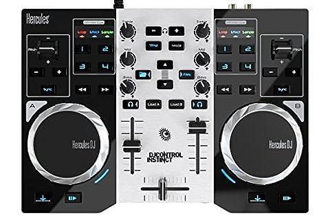 Hercules Contrôleur DJ Instinct S Series (LED Party Light USB, djuced 18degrés)