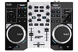 Hercules DJ Control Instinct S Series Party Pack (versione nuova, controller DJ a 2 piani, Soundkarte integrato, LED Party Light USB, DJUCED 18 °, PC/Mac)