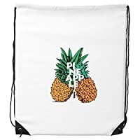 DIYthinker Pinapple Trend Couple Tropical Fruit Drawstring Backpack Shopping Gift Sports Bags