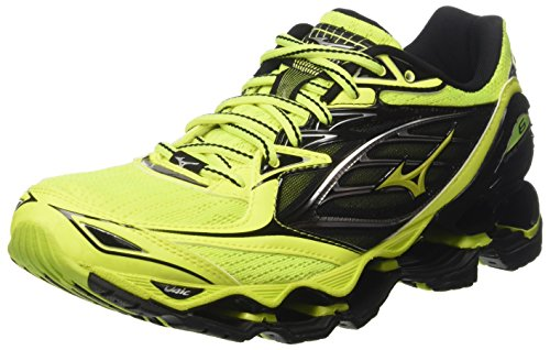 Mizuno Wave Prophecy, Scarpe da Corsa Uomo, Multicolore SafetyYellow/Black, 46 EU