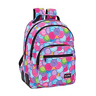 Benetton Blackfit8 «Cookies» Oficial Mochila Escolar 320x150x420mm, Unica, Multicolor