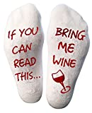 Atlecko Funny Bring Me Wine Socks Wein Socken For Christmas - Thick Cotton, Washable - Perfect Women Birthday Present, H