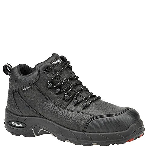 "Reebok Tiahawk 4"" Large Cuir Chaussure de Travail Black"