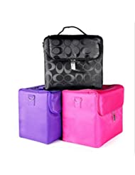 Caja de almacenaje de Oxford tela cremallera cosmética maquillaje casos , purple