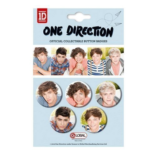 (One Direction 1D, Harry, Louis, Niall, Zayn, Liam Crush Button Badges)