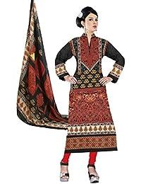 BalajiWomen's Cotton Unstitched dress material(1002-multicolor-free size)