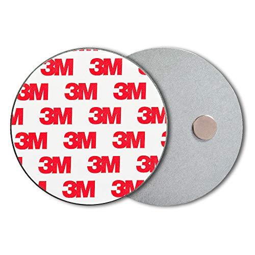 ECENCE Rauchmelder Magnethalter 10 Stück selbstklebende Magnethalterung für Rauchmelder Ø 70mm schnelle & sichere Montage ohne Bohren und Schrauben für alle Feuermelder und Rauchwarnmelder 45020108010