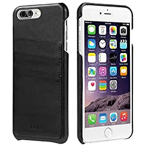 iPhone 7 Plus Case, Benuo [Card Slot Vintage Series] [Genuine Leather] Soft Leather Case [3 Card Slots], Ultra Slim, Leather Case Back Cover [Business Style] for Large Apple iPhone 7 5.5 inch (Black)