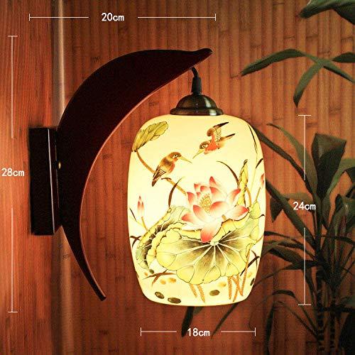 3D Nachtlicht Lampenkreatives Keramik Dünne Reifen Im Chinesischen Stil Einfache Schlafzimmer Balkon Wohnzimmer Handwerk Wandleuchten @ Dolphin Wandleuchte Aufkleber Pulver Lotus Teich Klar Spaß Wint