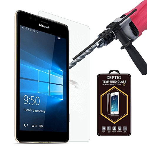 Tempered Glass Hartglas Bildschirmschutz/Bildschirmschutzfolie für Microsoft Lumia 950 XL 5.7 zoll 4G/LTE Tempered Glass Screen Protector (Nokia) Lumia 950 XL - XEPTIO UltimScreen Protector