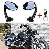 Ein Paar Motorrad Spiegel Lenkerendenspiegel Lenkerspiegel Rückspiegel 7/8 22mm