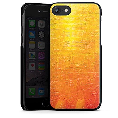 Apple iPhone X Silikon Hülle Case Schutzhülle Kratzer Struktur Malerei Hard Case schwarz