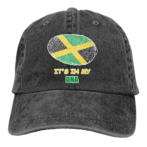 Oiup 089iuop Jamaikaner ist es in meiner DNA L?ssige Unisex-Baseballm¨¹tzen Washed Cowboy Hat Adjustable Trucker Hat