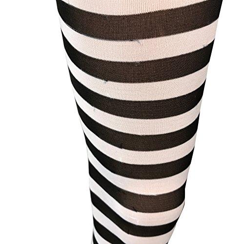Belle Storybook Kostüm - Emmas Kleiderschrank Schwarzweiss-Strumpfhosen (Black and White)