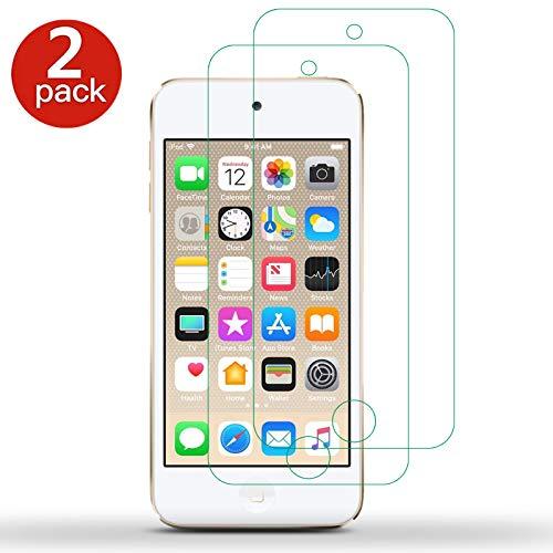 [2 Pack] für Apple iPod Touch 7 7th Generation Displayschutzfolie - Gorilla gehärtetes Glas Displayschutzfolie stoßfest LCD Film Guard für Apple iPod Touch 6 6. Gen. / iPod Touch 5 5. Gen.