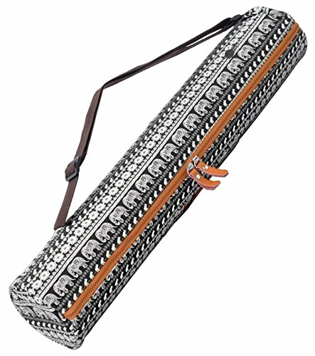 #DoYourYoga Yogabag »Sunita« yoga mat bag made of high-class Canvas, for yogamats up to 180 x 60 x 0,3 cm. Indian Elephants