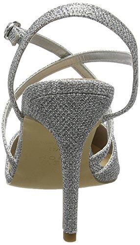 New Look Rexy, Scarpe con Cinturino alla Caviglia Donna Argento (Silver)