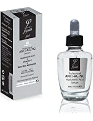 Hyaluronic Acid Serum - Anti Aging Serum With Organic Beeswax & Vitamin C For Maximum Skin Cells Penetration - 30ml - For Face & Neck - Prevents & Reduce The Appearance Of Fine Lines And Wrinkles