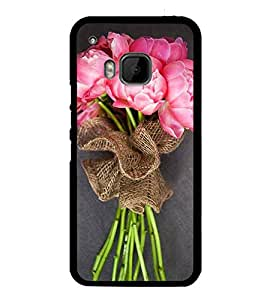Bouquet of Pink Flowers 2D Hard Polycarbonate Designer Back Case Cover for HTC One M9 :: HTC One M9S :: HTC M9 :: HTC One Hima