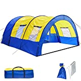 TecTake 800588 Tente de Camping Familiale Tunnel XXL, 4 Fenêtres, jusqu'à...
