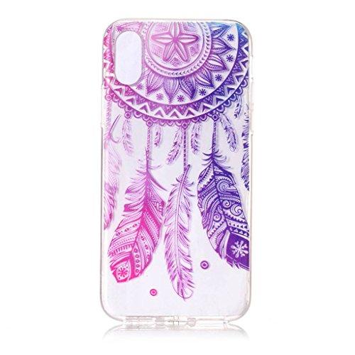 Per iPhone X Cover , YIGA Unicorno dellaerostato Trasparente Silicone Morbido TPU Case Shell Protezione Custodia per Apple iPhone X (5,8 pollici) XY21