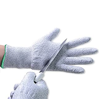 Aituo 1 Pair Kitchen Cut Resistant Food Contact Safe Gloves (X-large-Green)