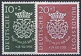 Goldhahn BRD Bund Jahrgang 1950 postfrisch ** MNH komplett Nr. 121-122 Briefmarken für Sammler