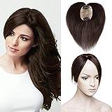 TESS Pony Haarteil Clip in Extensions Echthaar Toupee Haarverlängerung Lace Front Closure Toupet für Frauen 6