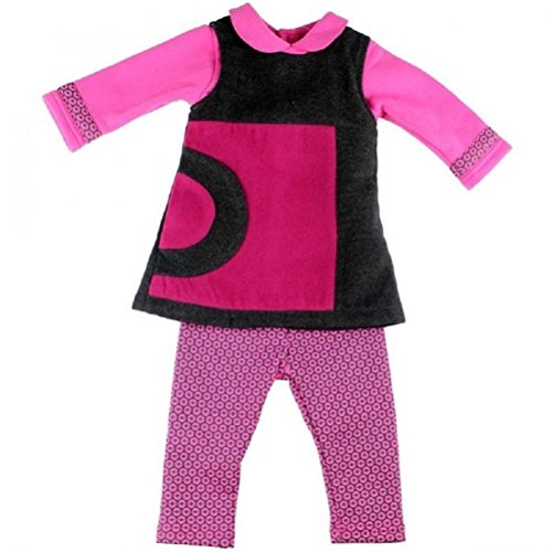Tom Kiddy Mädchen Baby 3tlg Set Langarm Leggins Kleid pink rosa Shirt H10 (86, Pink)