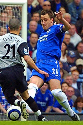 eine Fotografische Print Foto von Chelsea FC player John Terry V Everton Leon Osman bei Stamford Bridge London Hochformat Foto Farbe Bild Art Print oder Poster 12