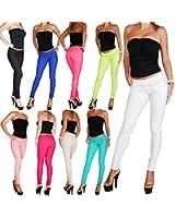 Hose Damen Treggings mit viel Stretch in 10 Farben Röhre Hüfthose Skinny Jeans Gr. XS S M L XL