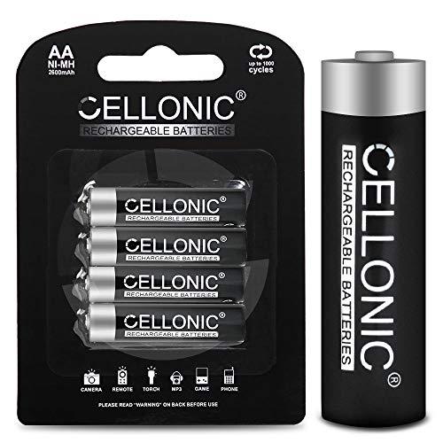 Cellonic 4X Qualitäts Akku kompatibel mit Fuji FinePix S4800 FinePix S8200 FinePix S2980 FinePix S9200, Instax Mini 8 Wide, 2600mAh Ersatzakku Batterie