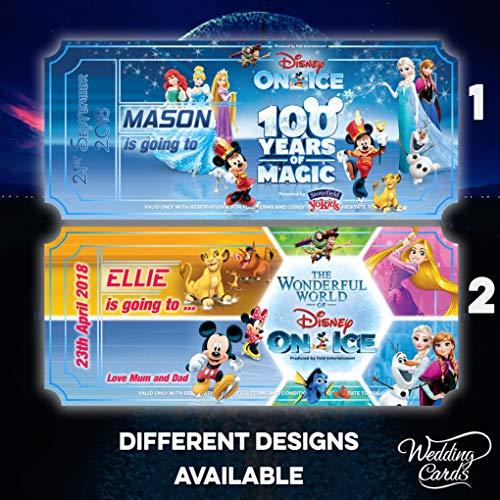 Neuheit Geschenk personalisiert Disney auf Eis Geburtstag Concert Theater Weihnachten Ticket Event Celebration Party Urlaub Disneyland Florida