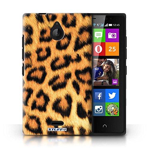 Kobalt® Imprimé Etui / Coque pour Nokia X2 Dual Sim / Vache/Brown conception / Série Motif Fourrure Animale Léopard