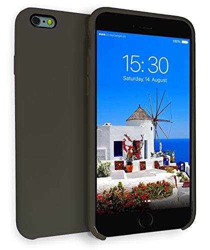 MyGadget Hardcase Hülle [Gummiert] für Apple iPhone 6+ / 6s Plus - Schutzhülle Case mit Soft Touch Silikon Finish - Back Cover Stoßfest in Matt Schwarz