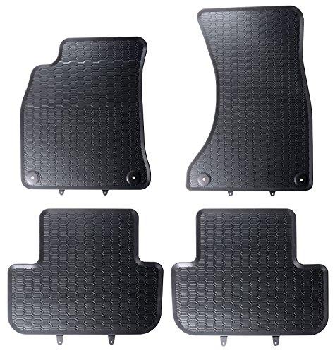 Auto alfombrillas de Experts Auto de goma Alfombrillas felpudos en negro de Evita los olores y se adapta 850/4C