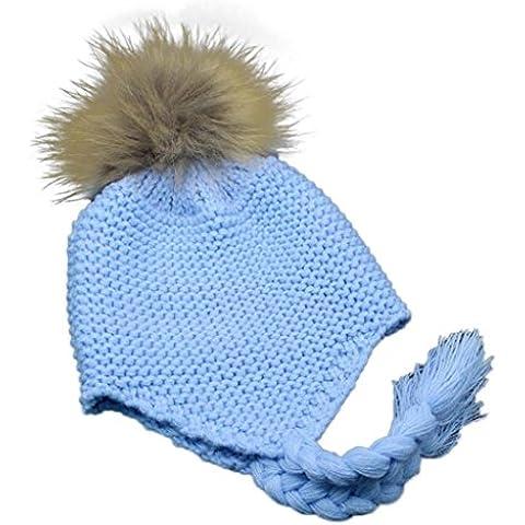 Koly Las orejeras del niño del bebé casquillo hecho punto caliente del invierno de la muchacha del muchacho(1 -4 años)