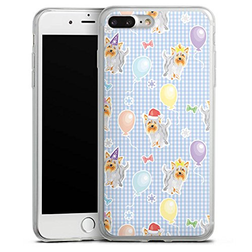 Apple iPhone 8 Plus Slim Case Silikon Hülle Schutzhülle Hunde Yorkshire Geburtstag Silikon Slim Case transparent