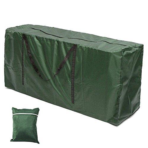 Terrasse Kissen Aufbewahrungstasche Wasserdicht Kissenhülle im Rechteck Möbel Sitz Displayschutzfolie Kissenbezug mit Reißverschluss strapazierfähig und Schutz 172,7cm LX30