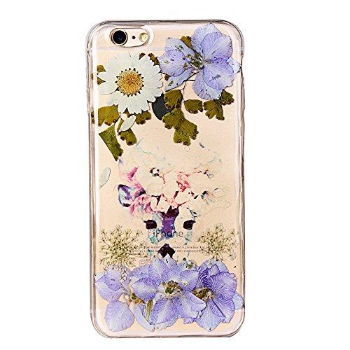 """iPhone 6sPlus Schutzhülle, iPhone 6Plus Soft TPU Handytasche, CLTPY Modisch Durchsichtige Rückschale im Getrocknete Blumenart, [Stoßdämpfung] & [Kratzfeste] Full Body Case für 5.5"""" Apple iPhone 6Plus/ Floral 25"""