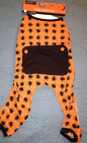 worldpet Halloween Spinnen orange & schwarz Hund Schlafanzüge, Small, Orange