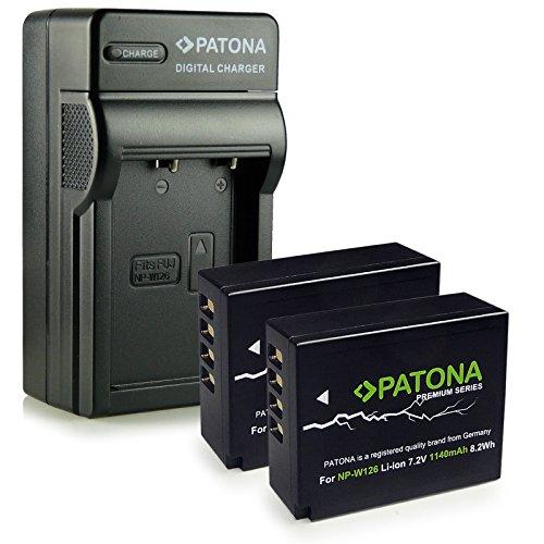 Galleria fotografica PATONA 4in1 Caricabatteria + 2x Premium Batteria NP-W126 per Fuji FinePix X-Pro 1 | HS30 EXR | HS30EXR | HS-30EXR | HS33 EXR | HS33EXR | HS-33EXR