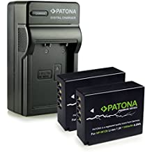 PATONA 4in1 Cargador + 2x Premium Bateria NP-W126 para Fuji FinePix X-Pro 1 | HS30 EXR | HS30EXR | HS-30EXR | HS33 EXR | HS33EXR | HS-33EXR