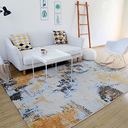 RUG LUYIASI- Teppich abstrakt farbigen Teppich Wohnzimmer kreative Mode Wirtschaft Rechteck Schlafzimmer Nachttisch Teppich Non-Slip mat (Farbe : A, größe : 140x200cm) - Wirtschaft Greifer