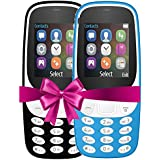 I KALL 4.57 Cm (1.8 Inch) Mobile Phone Combo - K3310 (Black& Light Blue) With Feature Of Currency Detector