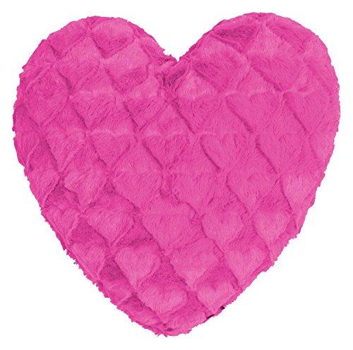 Fluffy Hearts Herzkissen kuschelweicher Plüsch in Felloptik (weiß)