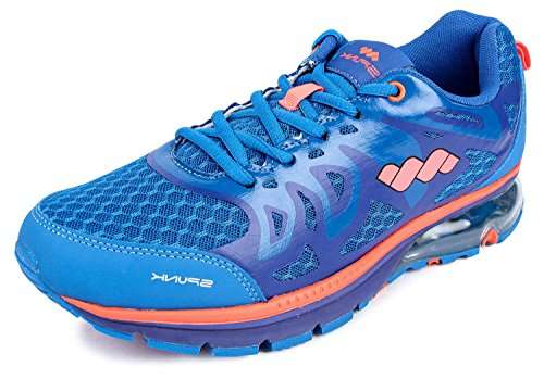 Spunk Men's Blue Synthetic Running Shoes