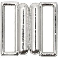 Bikiniverschluss Metall Silber Steg 20mm