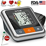 Dr Trust (USA) ' A ONE ' Series - Fully Automatic TALKING Blood Pressure Monitor BP Machine with Irregular Heart Beat Detection & Dr Trust Digital Thermometer Free ( 4 AA Batteries Included )