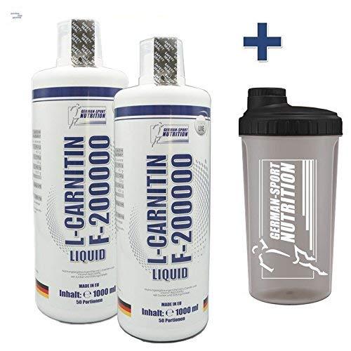 L-Carnitin Liquid 2 x 1 L F - 200.000 Carnitine flüssiges 2000 ml Fettverbrennung, Definition, Abnehmen, Diät